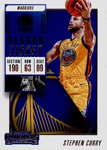 2018-19 Panini Contenders Basketball Stephen Curry