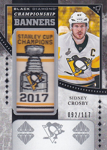 2018-19 Upper Deck Black Diamond Hockey Championship Banners Sidney Crosby