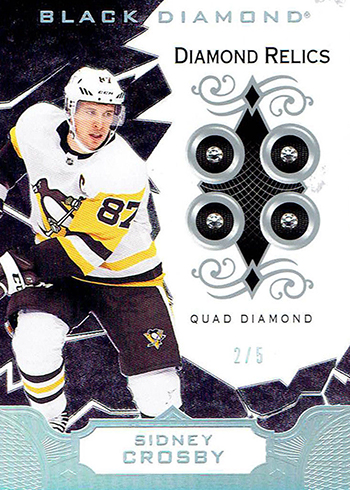 2018-19 Upper Deck Black Diamond Hockey Diamond Relics Sidney Crosby