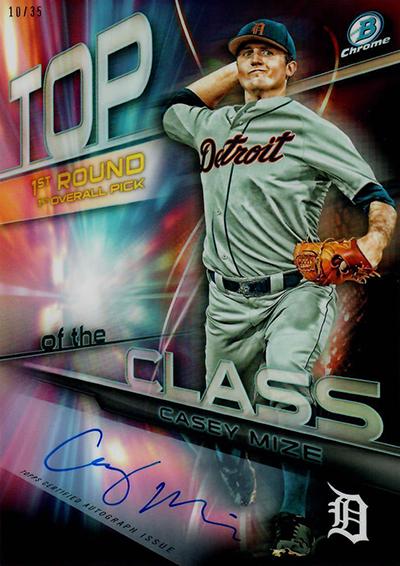 2018 Bowman Draft Baseball Top of the Class Autograph Casey Mize