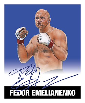 2018 Leaf Legends of Wrestling Fedor Emelianenko
