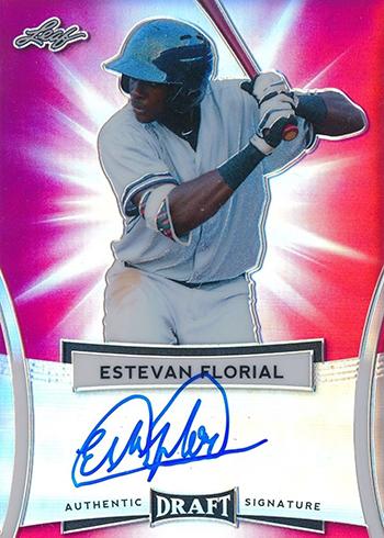 2018 Leaf Metal Draft Baseball Flashback 2017 Autograph Estevan Florial