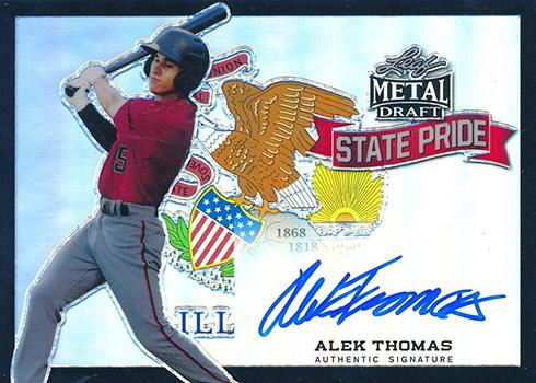 2018 Leaf Metal Draft Baseball State Pride Black Alek Thomas