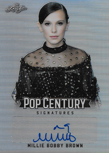 2018 Leaf Metal Pop Century Millie Bobby Brown Autograph