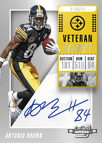 2018 Panini Contenders Optic Football Veteran Ticket Autographs