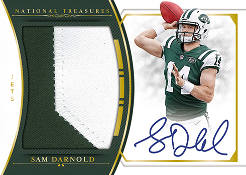 2018 Panini National Treasures Football Rookie Material Signature