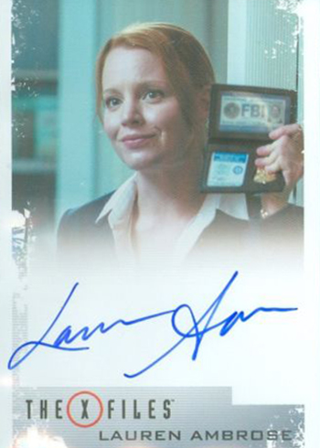 2018 Rittenhouse X-Files Seasons 10 and 11 Autographs Lauren Ambrose