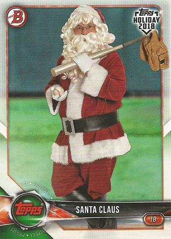 2018 Topps Bowman Holiday Santa Claus