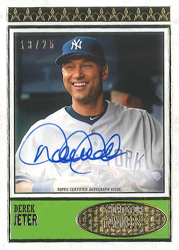 2018 Topps Brooklyn Collection Baseball Derek Jeter Autograph Design 1