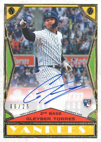 2018 Topps Brooklyn Collection Baseball Gleyber Torres Autograph Design 2