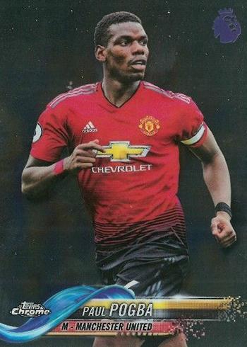 2018 Topps Chrome Premier League Soccer Paul Pogba