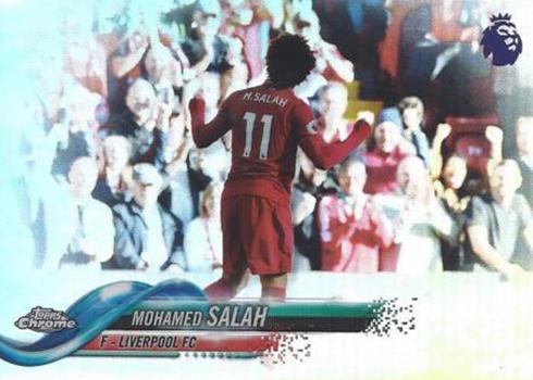 2018 Topps Chrome Premier League Soccer Variation Mohamed Salah