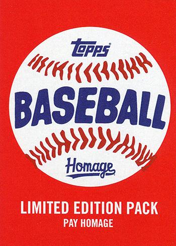 2018 Topps Homage Baseball Header
