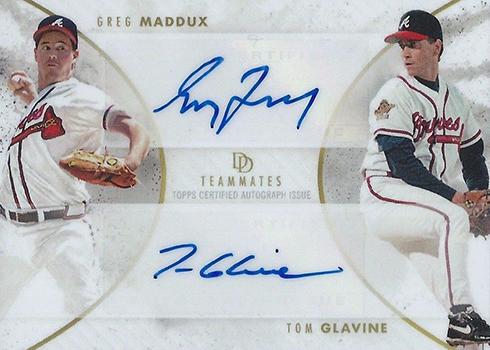 2018 Topps On Demand Dynamic Duals Baseball Tom Glavine Greg Maddux Autograph