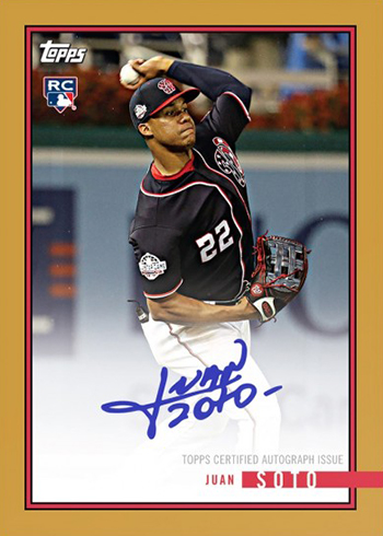2018 Topps On Demand Rookie Year In Review Baseball Checklist Details