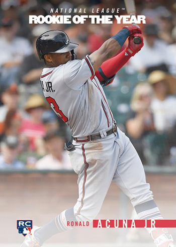2018 Topps On Demand Rookie Year in Review ROY Tribute Ronald Acuna Jr