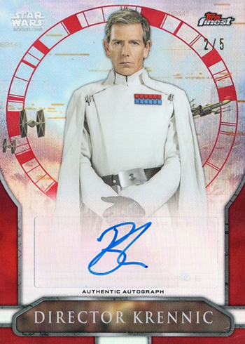 2018 Topps Star Wars Finest Rogue One Autographs Red Refractors Ben Mendelsohn