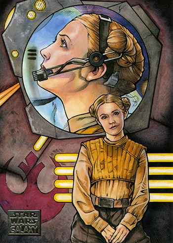 2018 Topps Star Wars Galaxy 11 Hero of the Resistance - Brad Hudson