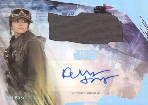 2018 Topps Star Wars Stellar Signatures Dual Autograph Relic Felicity Jones