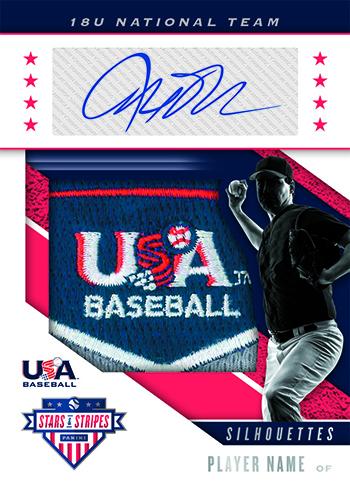 2019 Panini Stars and Stripes USA Baseball Silhouettes Signatures Prime