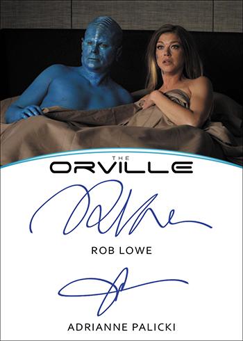 2019 Rittenhouse Orville Season 1 Rob Lowe Adrianne Palicki Dual Autograph