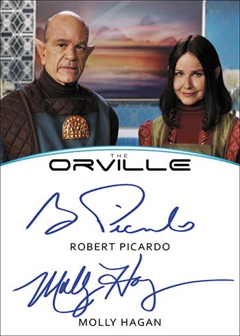 2019 Rittenhouse Orville Season 1 Robert Picardo Molly Hagan Dual Autograph