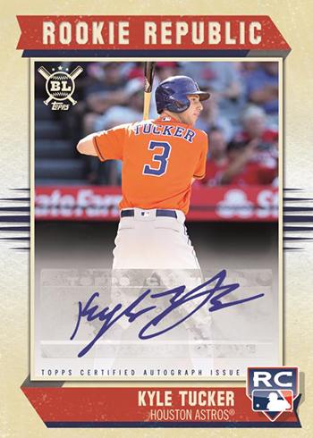 2019 Topps Big League Baseball Rookie Republic Autographs