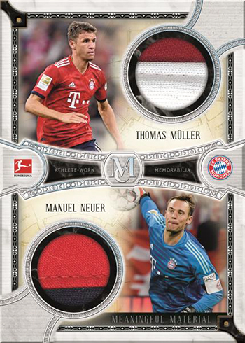 2019 Topps Bundesliga Museum Collection Dual Meaningful Material Patch Cards
