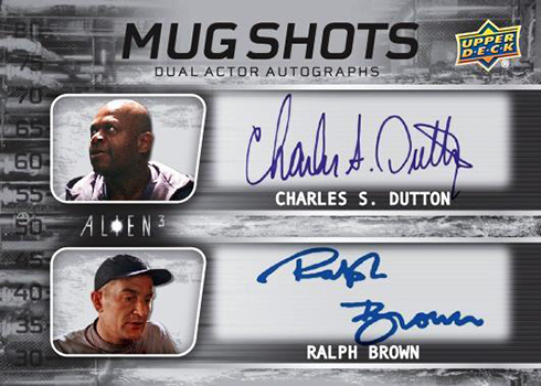 2019 Upper Deck Alien 3 Mugshots Dual Autograph Dutton Brown