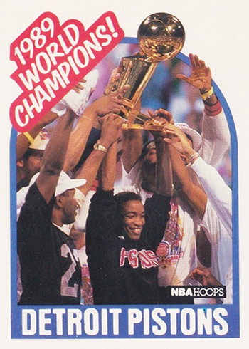 1989-90 Hoops 353 Detroit Pistons World Champions SP