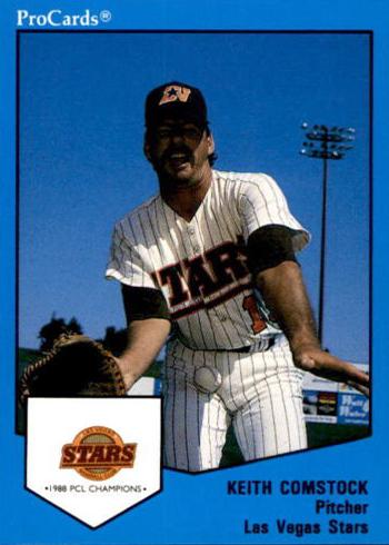 1989 ProCards Las Vegas Stars Keith Comstock