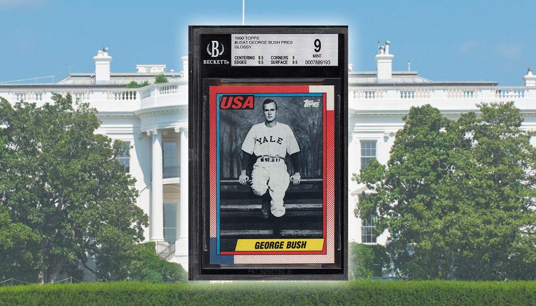 Glossy 1990 Topps George Bush Baseball Card Sells For Over