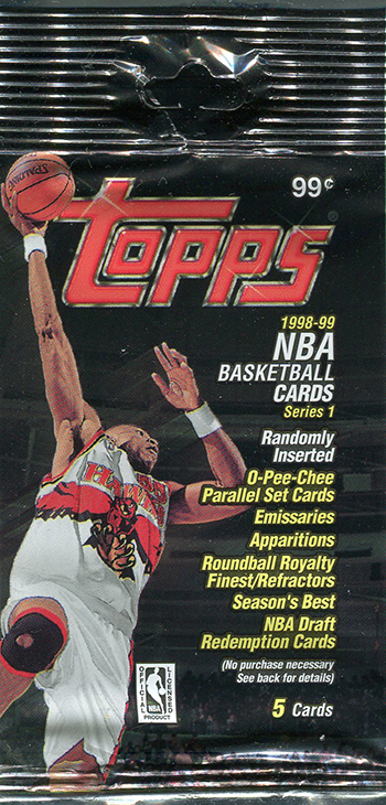 1998-99 Topps Basketball Wrapper Canadian Retail