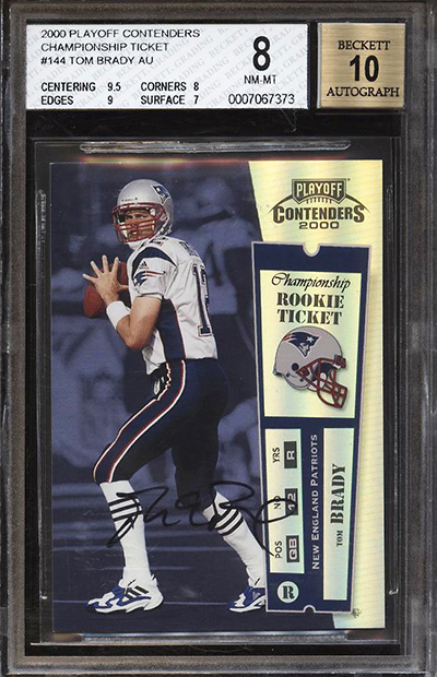 2000 Playoff Contenders Championship Ticket Tom Brady Autograph PWCC Jan-2019 400