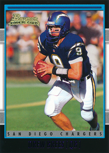 2001 Bowman Drew Brees Rookie Card