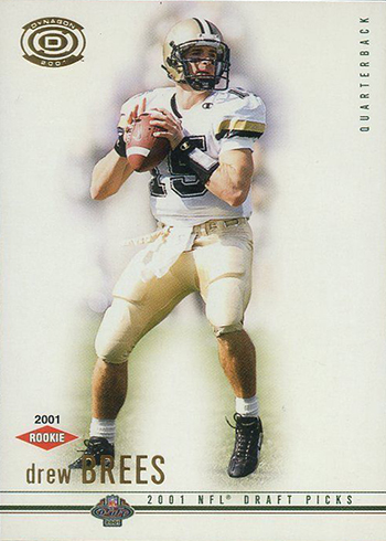 2000 Pacific Dynagon Drew Brees Rookie Card