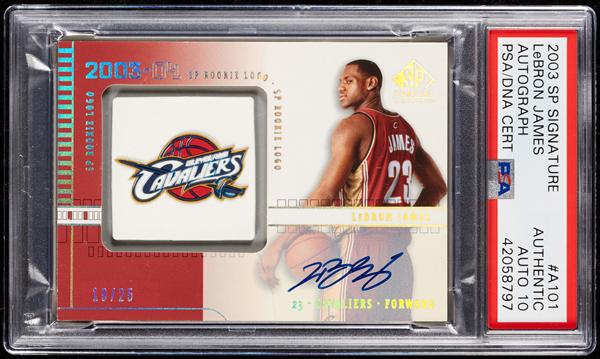 2003-04 SP Signature LeBron James Autograph