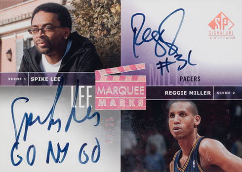 2003-04 SP Signature Series Marquee Marks Spike Lee Reggie Miller