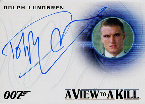 2015 Rittenhouse James Bond Archives Dolph Lundgren Autograph