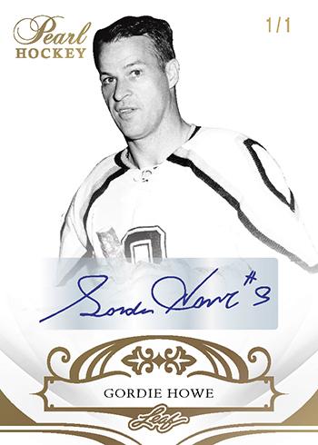 2017-18 Leaf Pearl Hockey Base Autographs