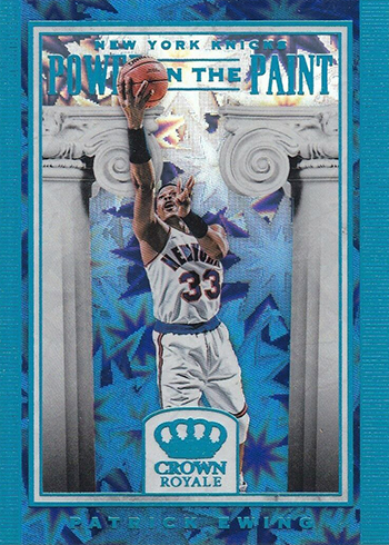 2018-19 Panini Crown Royale Basketball Power in the Paint Patrick Ewing