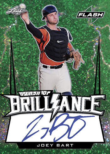 2018 Leaf Flash Baseball Brilliance Joey Bart