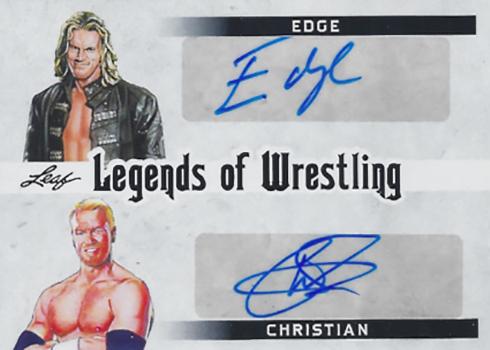 2018 Leaf Legends of Wrestling Dual Autograph Edge Christian