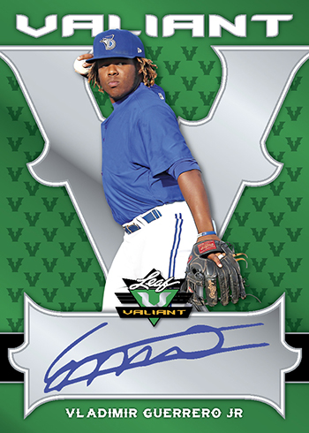 2018 Leaf Valiant Baseball Base Autographs Green