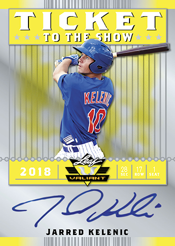 2018 Leaf Valiant Baseball Ticket to the Show Yellow