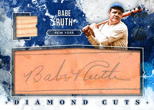 2019 Panini Diamond Kings Baseball Diamond Material Cuts Signatures