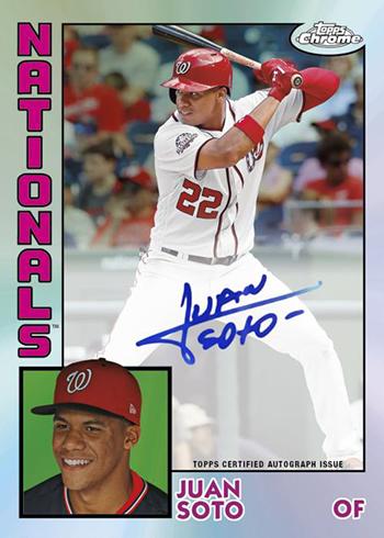 2019 Topps Chrome Baseball 1984 Topps Baseball Autographs
