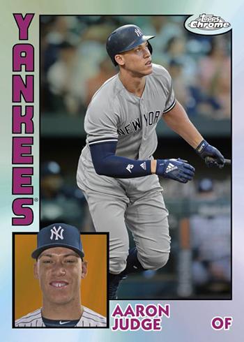 2019 Topps Chrome Baseball 1984 Topps Baseball