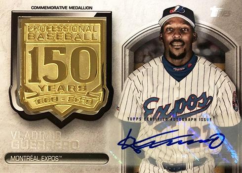 2019 Topps Series 1 Baseball 150 Years of Baseball Medallion Autographs Vladimir Guerrero