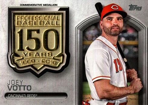 2019 Topps Series 1 Baseball 150 Years of Professional Baseball Commemorative Medallions Joey Votto